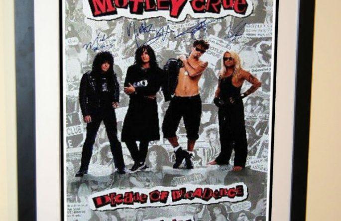 Motley Crue Signed Poster