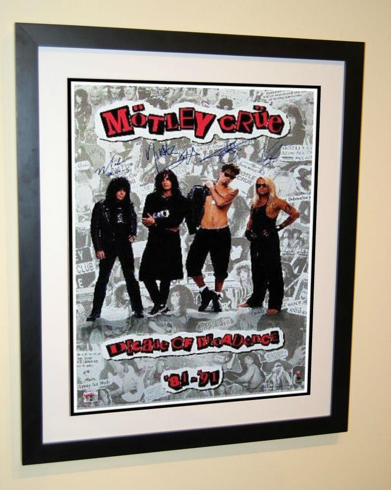 Motley Crue Signed Poster Mick Mars Tommy Lee Nikki