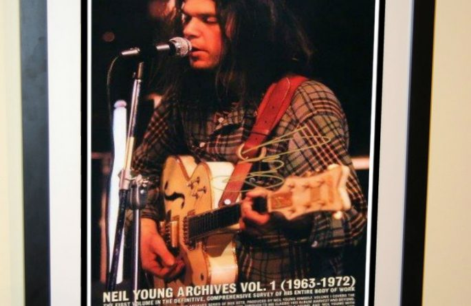 Neil Young Signed Poster