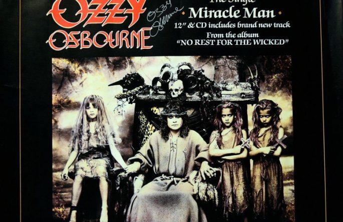 #2 Ozzy Osbourne Signed  Poster