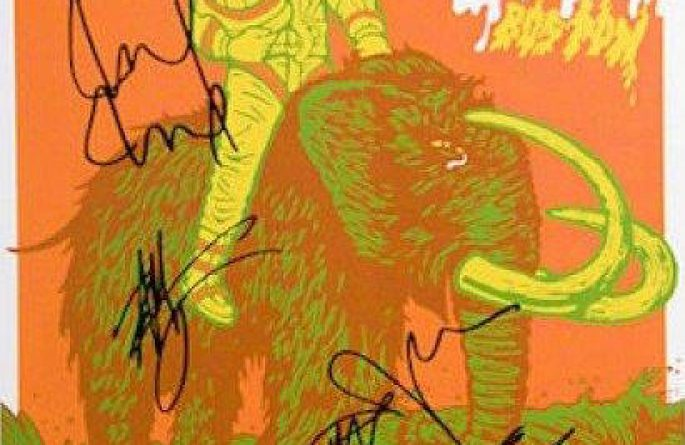 Pearl Jam Signed Poster