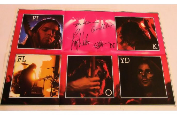 #1 Pink Floyd Signed Poster