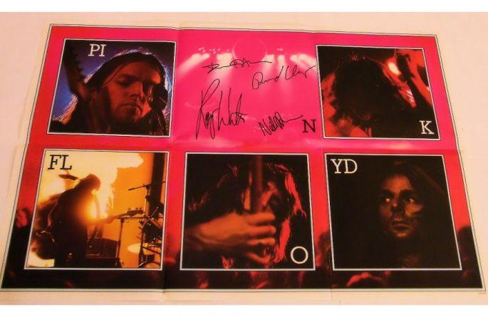 #1 Pink Floyd Signed Poster