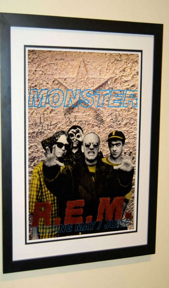 Rem Signed Poster Michael Stipe Peter Buck Mike Mills