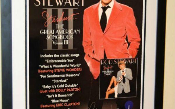 #2 Rod Stewart Signed Poster