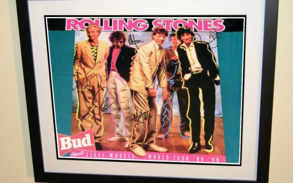 #1 Rolling Stones Signed Poster
