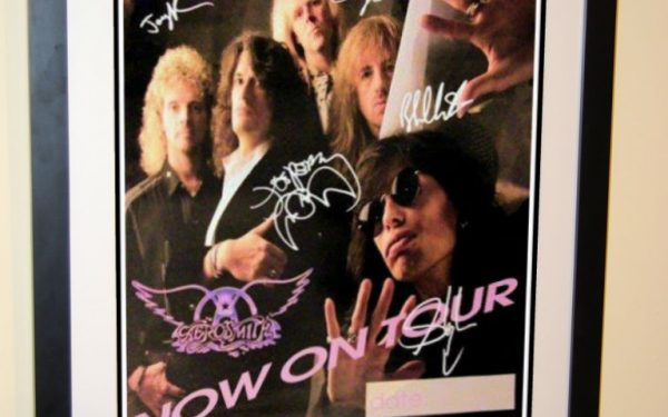 #1 Aerosmith Signed Poster