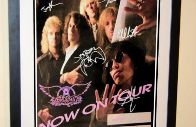 #1 Aerosmith Signed Poster