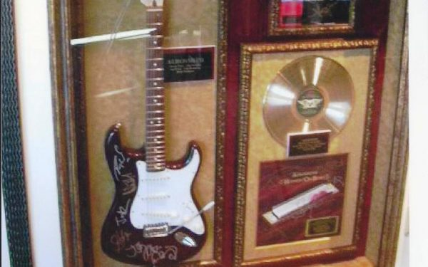 #3 Aerosmith Signed Guitar Display