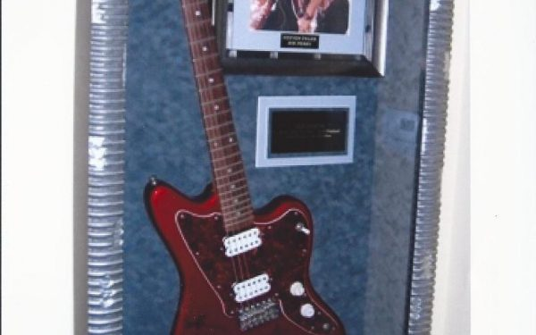 #4 Aerosmith Signed Guitar Display