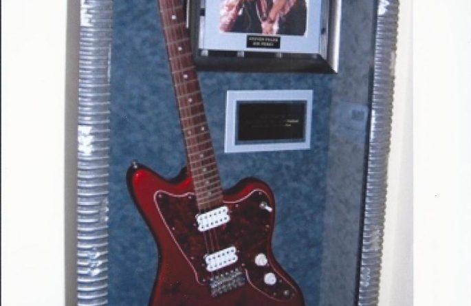 #4 Aerosmith Signed Guitar Display