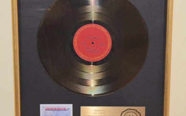 Aerosmith RIAA Award For Debut Release