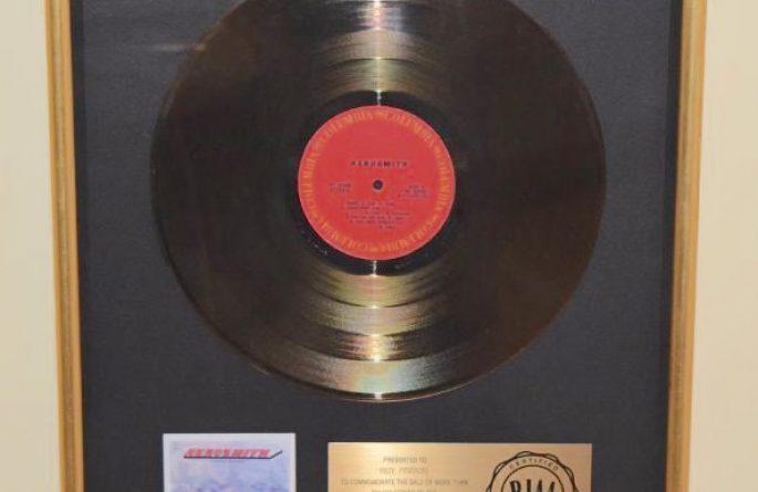 Aerosmith RIAA Award For Debut Release