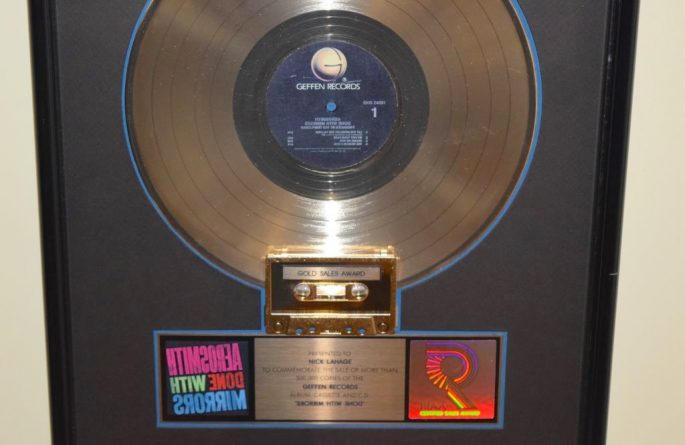 Aerosmith RIAA Award For Done With Mirrors