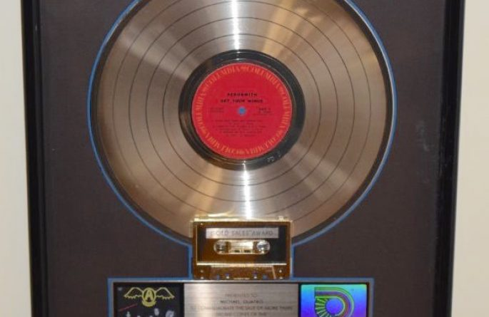 Aerosmith RIAA Award For Get Your Wings
