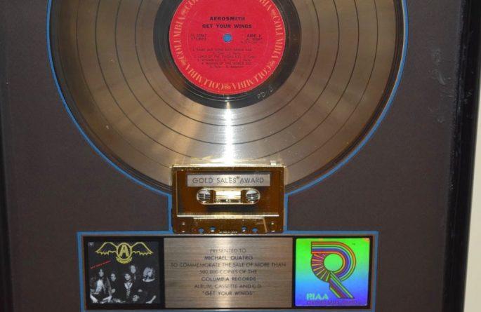 Aerosmith RIAA Award For Get Your Wings