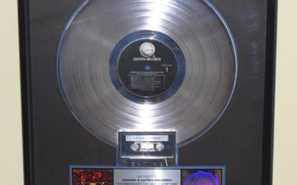 Aerosmith RIAA Award for Permanent Vacation