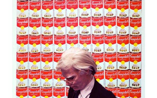 Andy Warhol With Soup Can