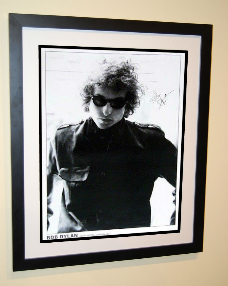 Bob Dylan Signed Poster Rock Star Gallery