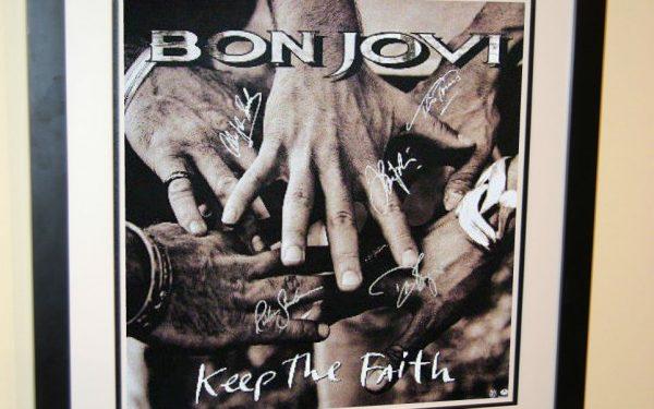 Bon Jovi – Keep The Faith Signed Poster