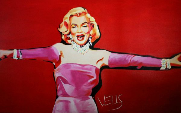 Diamonds Are A Girl's Best Friend, Marilyn Monroe, larger than life