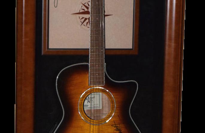 #2 Jimmy Buffett Signed Guitar Display