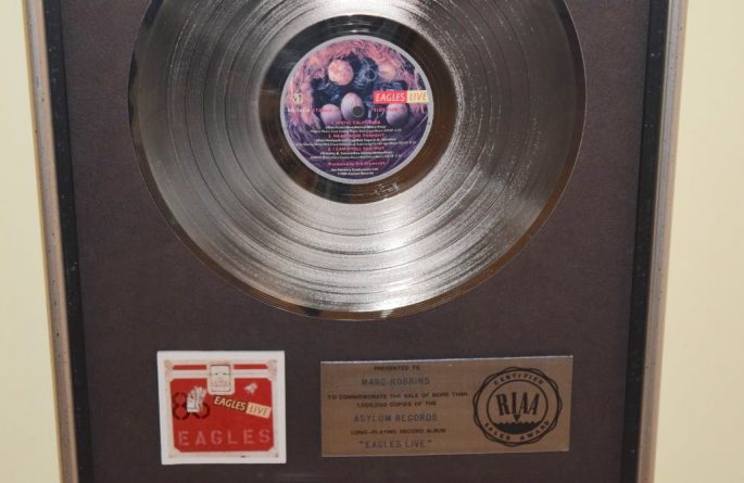 Eagles RIAA Award for Eagles Live