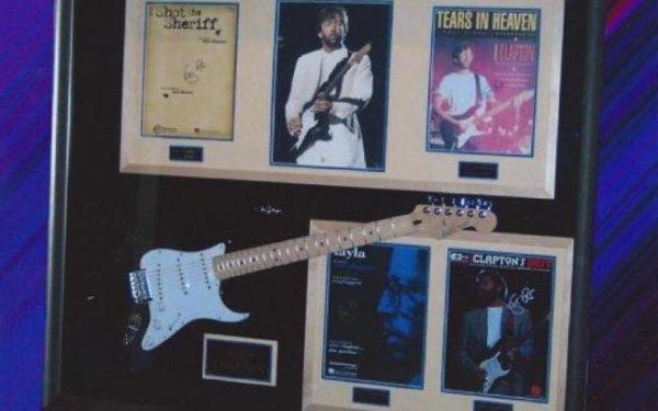 #2 Eric Clapton Signed Guitar Display