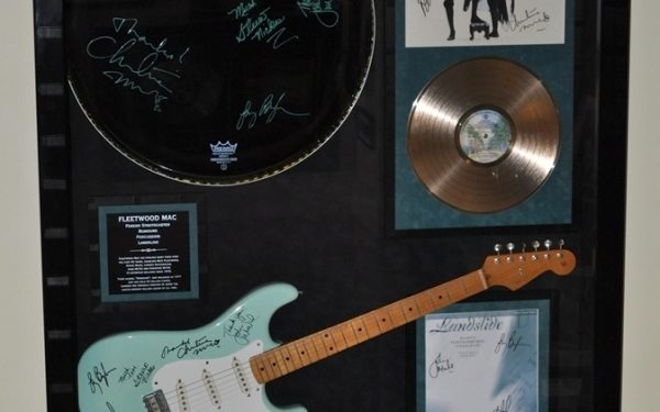 Fleetwood Mac Signed Guitar Display