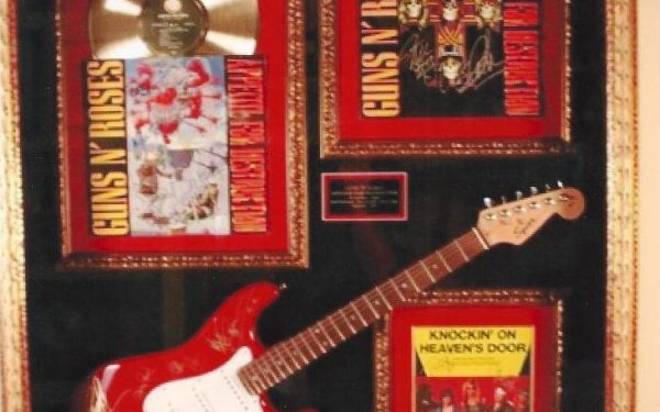 #3 Guns N' Roses Signed Guitar Display