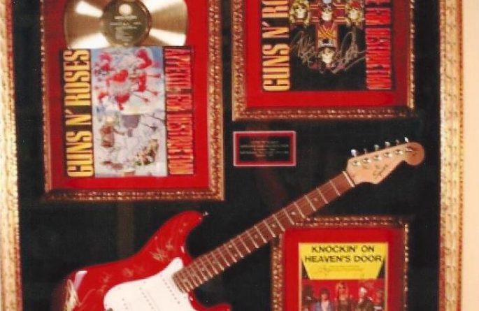 #3 Guns N' Roses Signed Guitar Display