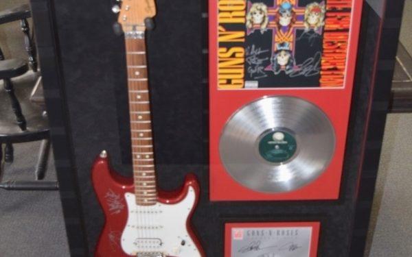 #2 Guns N' Roses Signed Guitar Display