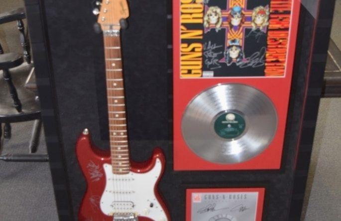#2 Guns N' Roses Signed Guitar Display