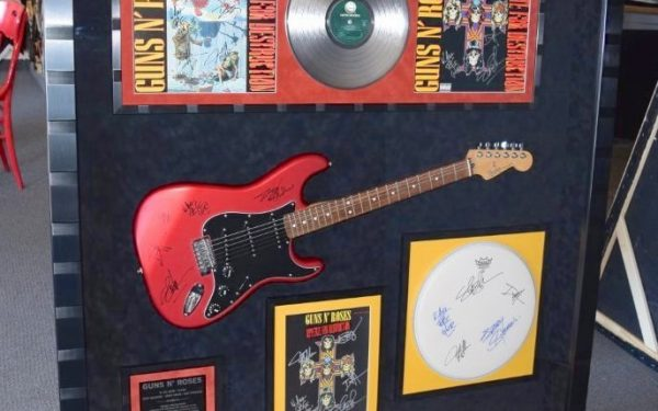 #1 Guns N' Roses Signed Guitar Display