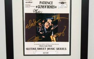 Signed Sheet Music and Lyrics