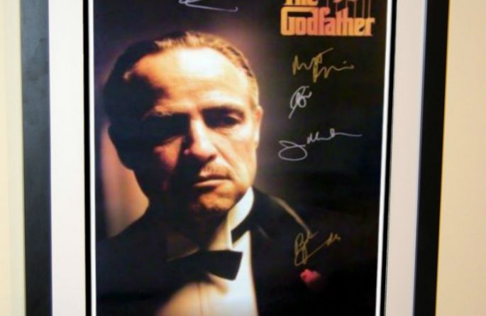 #2 The Godfather Signed Movie Poster