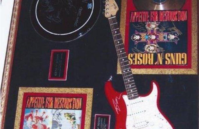 #4 Guns N' Roses Signed Guitar Display