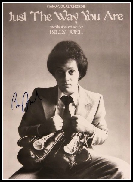 Billy Joel Just The Way You Are Signed Sheet Music Hand Signed