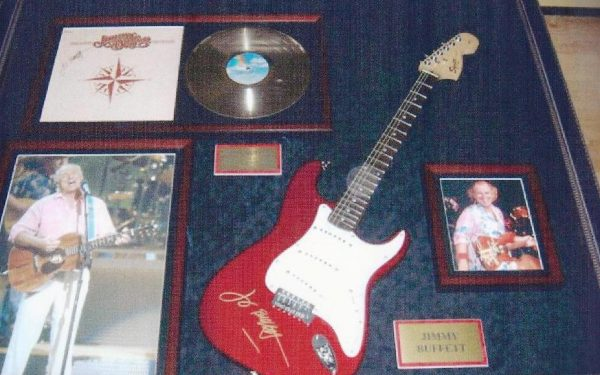 #4 Jimmy Buffett Signed Guitar Display