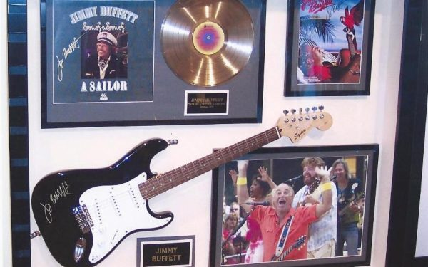 #3 Jimmy Buffett Signed Guitar Display