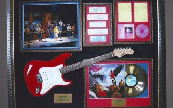 #1 Jimmy Buffett Signed Guitar Display