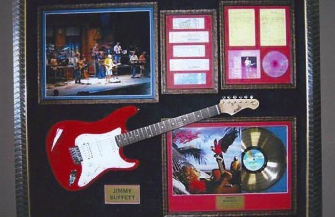 #1 Jimmy Buffett Signed Guitar Display
