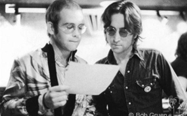 John Lennon & Elton John Record Plant, NYC, 1974