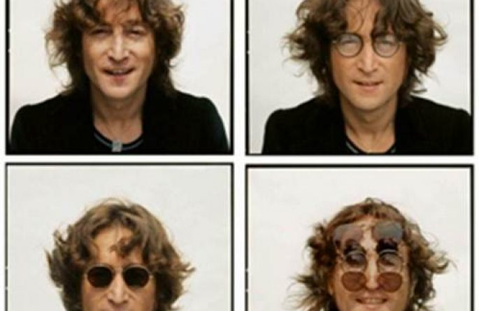 #8 John Lennon Portrait 4 Faces, Walls and Bridges Cover, NYC, 1974