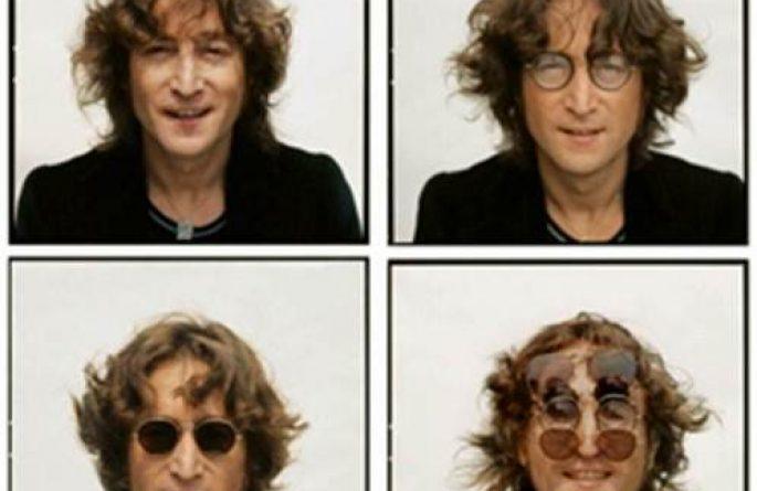 #8 John Lennon Portrait 4 Faces, Walls and Bridges Cover, NYC, 1974