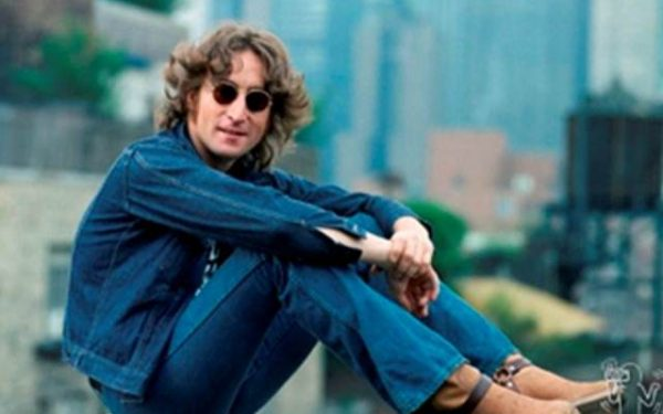 #7 John Lennon Portrait 4 Faces, Walls and Bridges Cover, NYC, 1974