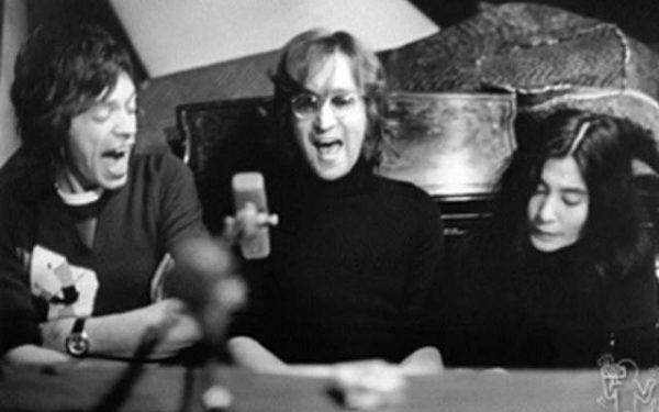 #3 John Lennon, Yoko Ono & Mick Jagger Record Plant, NYC, 1972