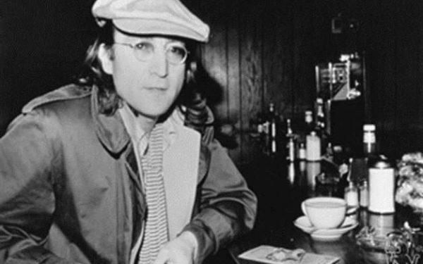 B&W John Lennon Yonkers, NY, 1975