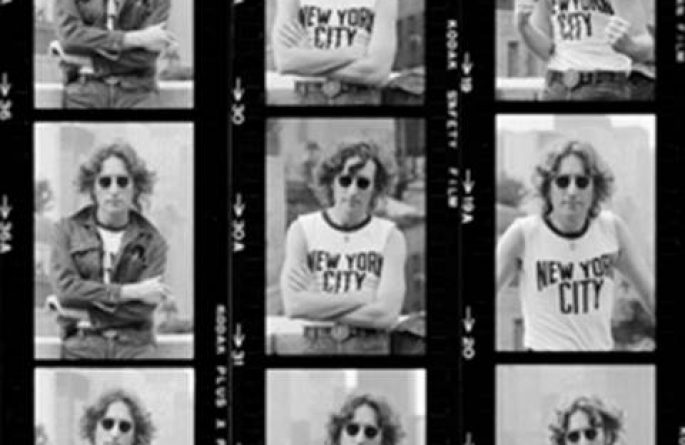 John Lennon Portrait Contact Sheet, NYC, 1974