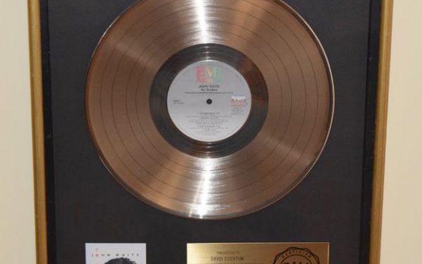 John Waite RIAA Award For No Brakes
